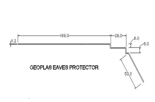 Eaves Guard Technical Drawing